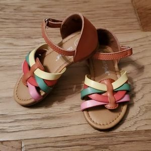 3/$15 Leather Sandals Summer Rainbow Baby Toddler